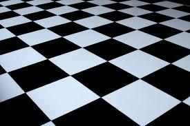 black and white floor