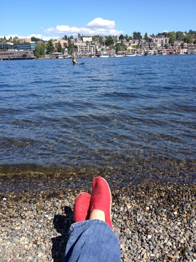 Toms on the river